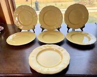Federalist Ironstone  BUTTERCUP Yellow Salad Dessert Plates 4239 Set of 7