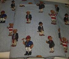 Ralph Lauren Polo University Rugby Bear Top Sheet Craft Yardage Fabric Lot X 3