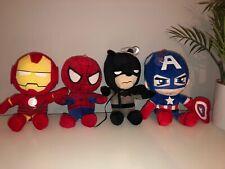 MARVEL DC AVENGERS TEDDY BUNDLE SPIDERMAN CAPTIN AMERICA BATMAN IRON MAN X5