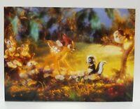 WDCC Disney Post Card Bambi Flower Thumper Friend Owl Celebration of Spring 6x8