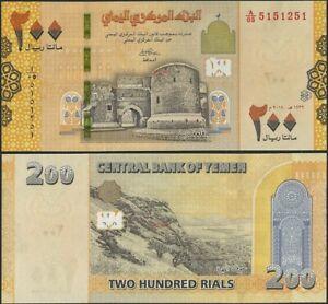 Yemen 200 Rials P39 B132 2019 UNC Banknote @ EBS