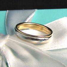 TIFFANY & CO $1625 ~ 18K ROSE GOLD 950 PLATINUM 4MM LUCIDA WEDDING RING SZ 7 BOX