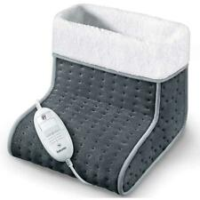 Beurer Electric Foot Warmer - 3 Temperature Settings, Cosy, Soft, Washable, Grey