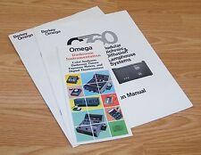 Berkey Omega C760 Modular Enlarger / Dichronic & Diffusion Lamp System Manuals