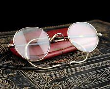 Vintage Art Deco 9ct gold spectacles, faux tortoiseshell glasses