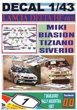 DECAL 1/43 LANCIA DELTA HF 4WD MIKI BIASION R.ARGENTINA 1987 WINNER (09)