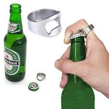 1x Stainless Steel Finger Thumb Ring Bottle Open Opener Bar Beer Useful Tool