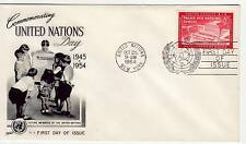 United Nations 8c United Nations Day 1954 First Day Cover, Special PMK