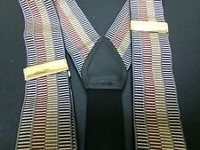 Suspender/Braces Made England Multi-Tone Woven Leather Fittings