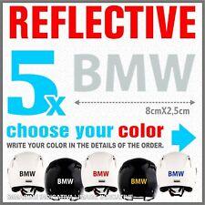 5x White Reflective BMW R1200 1150 F800 F650 F700 GS A STICKERS ADESIVI PEGATINA