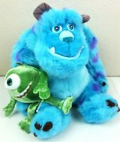 Disney Parks Monsters Inc Plush Sulley & Mike Attached Stuffed Toy Authentic