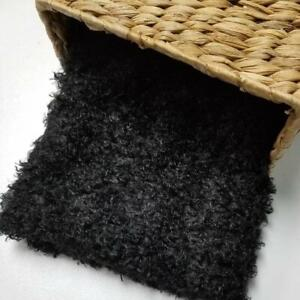 Black Curly Faux Fur Photo Prop Newborn Nest Photography Blanket FREE SHIPPING!!