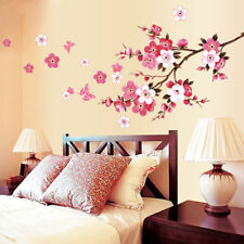 EG_ Romantic Flower Butterfly Wall Sticker Art Decal For Home Bedroom Hotel Note