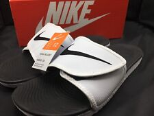 Nike Kawa Adjust Mens 834818-101 White Black Logo Strap Slide Sandals Size 12