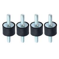 4pcs/set M6 Rubber Shock Absorber Anti Vibration Isolator Mounts Bobbins 20x15mm