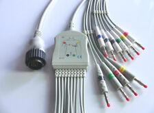 One-piece 10 leads Cardioline Delta ECG EKG Cable Banana 4.0 plug leadwires IEC