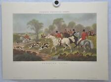 """Herring's Fox-Hunting Scenes """"Breaking Cover"""" Lithograph Engraving Print"""