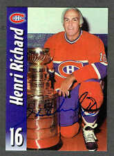 2000(to date) Molson Export Montreal Canadiens Autographed Henri Richard