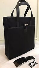 BN MONT BLANC NIGHTFLIGHT VERTICAL BLACK TOTE BAG MADE IN ITALY