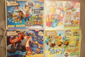 Paw Patrol, Turtle, Blaze or Shopkin 5-Pack Wood Puzzles In Wooden Storage Box