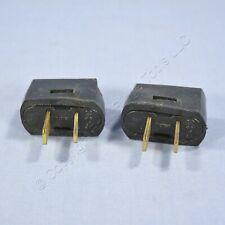2 Leviton Black RESIDENTIAL Angle Plugs Vinyl Polarized 1-15P 15A 125V Bulk 638