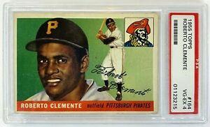 1955 Topps Roberto Clemente Rookie Card #164 PSA 4 Pittsburgh Pirates baseball
