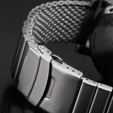 22 · MILANAISE Uhrenarmband MATT GEBÜRSTET Mesh EXTRA MASSIV Band Edelstahl Uhr