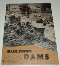 "Caterpillar ""Building Dams"" Sales Brochure Original! CAT crawler grader scraper"