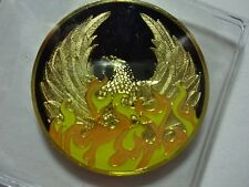 NA Black Gold Coin 15 Year Tri-Plate Narcotics Anonymous Medallion Out of Ashes