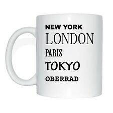 New York, Londra, Parigi, Tokyo, oberrad Tazza Caffè