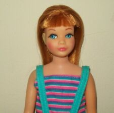 Vintage SKIPPER Titan Red Head Doll Rooted Lashes TNT Bend Knee Striped Swimsuit
