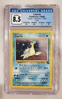 Lapras unlimited holo Fossil set card — 1999 Pokemon 10/62 CGC PSA 8.5 NM-MT+