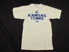 adidas Kansas Jayhawks - White Poly Short Sleeve Shirt (XS) - Used