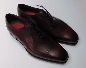 Edward Green Laughton Oxford Burgundy, Size 7.5 UK (US 8) Leather Men's Shoes.