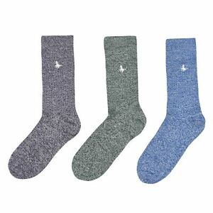 Jack Wills Mens Meadowcroft 3 Socks Crew Jersey Silicone