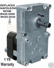 NAPOLEON  AUGER  FEED  MOTOR - 1 RPM CW  [XP7000]  NPAM    W435-0009   W435-0048