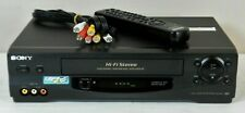 Mint! 2002 Sony N55 4-Head Hifi Vhs Vcr Recorder w/ Tuner + Remote Works Great