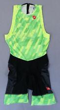 Castelli Men's Free Tri Itu Suit Mc7 Neon Green/Black 8618110-084 Size Xl Nwt