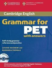 Cambridge Grammar For Pet Book With Answers And Audio Cd: Self-Study Grammar ...