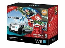 Nintendo Wii U Mario Kart 8 Deluxe Set 32GB Black Handheld System