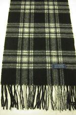 81330b18999e25 Nuovo Lochmere 100% Cashmere Bianco e Nero Plaid Sciarpa Edimburgo Scozia