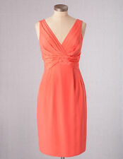 NWT ORG $218 BODEN COCKTAIL PARTY GUAVA CORAL SILK SASSY DRESS WH479 -SIZE US 4L