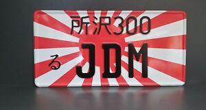 Japanese Fun Number Plate Japan Kennzeichen 16x33 JDM Nummernschild WUNSCH TEXT