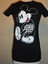 Girls soft Retro MICKEY MOUSE Houndstooth Shorts T-shirt
