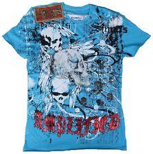 Amplified saint&sinner OSCURO Spirit Estrás Calavera King Rock Star Camiseta M