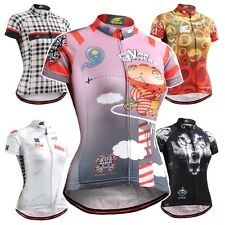 FIXGEAR Women's Cycling Jerseys Short Sleeve Series Mountain Bike Shirts Bicycle