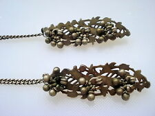 vintage antique tribal old silver hairpin hair clip traditional jewelry