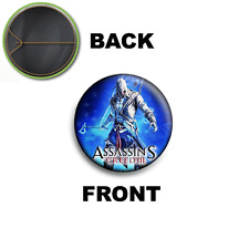 PIN SPILLA 2,5 CM 25 MM ASSASSIN'S CREED III CONNOR KENWAY PS3 XBOX PC  1