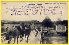 cpa 55 - La Guerre en Lorraine OURCHES sur MEUSE Entrée du VILLAGE Animée