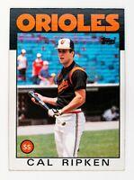 Cal Ripken Jr. #340 (1986 Topps) Baseball Card, Baltimore Orioles, HOF